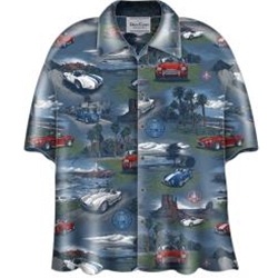 Camp Shirt With Shelby Cobra Cars On It