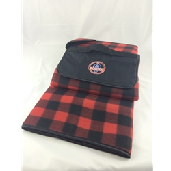 plaid blanket with shelby cobra logo