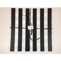Black/white placemat Set of 4