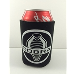 black koozie with white cobra logo