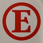 E Decal for Fire Extinguisher
