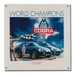 Cobra World Champions Collectible Sign
